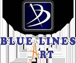 Blue Lines Art